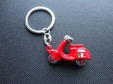 Vespa Piaggio 3D Scooter Keyring -  Red