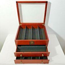 Bradford Exchange Hawthorne Village Masterpiece Railways Wood Display Box Case