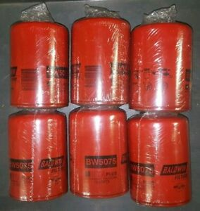Lot of 6, Cooling System Filter Baldwin BW5075 ~Free Shipping within US~