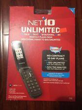 Brand New NET10 Moto W409G Motorola Unlimited Nationwide Black Color