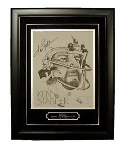 Ken Stabler autographed 8x10 Artwork print professionally framed