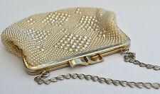 Golden Name Vintage Beaded Evening Wedding Purse Bag Handbag Fancy Dress Bag