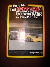 OULTON PARK April 15-16 1976 European Championship Programme Daily Mail