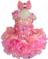 Glitz Beaded Bodice Lace Little Girls' Nationals Cupcake Pageant Dress