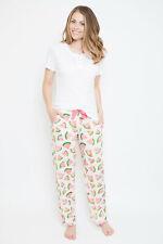 Ladies Womens Pink & White Watermelon Print Pyjama Set ~ SIZE 16 18 20