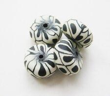 Fimo Perlen Rondellen 8x15mm 10 Stück SERAJOSY Polymer Clay Beads