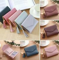 Women Casual Short Wallet Lady Leather Folding Coin Card Holder Pocket Purse New