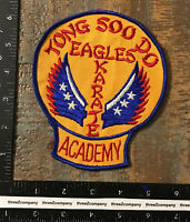 Vintage TONG SOO DO EAGLES KARATE ACADEMY Patch Martial Arts RARE