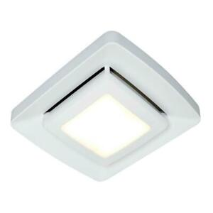 Exhaust Fan Grill Cover Quick Installation LED Lighting Bathroom Ventilation