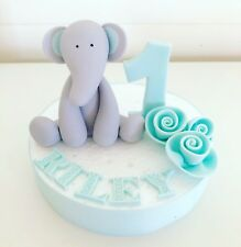 Edible Elephant Cake Topper Name Number For First Birthday Cake