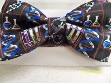 Chemist, Chemical, Chemistry, teacher, professor, DNA, test tubes men's bow tie