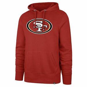 San Francisco 49ers NFL '47 Red Imprint Headline Hoodie Pullover Sweatshirt Mens