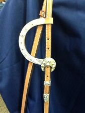 Tory 2 Eared Western Headstall with Reins Show w/ Pacos Bill Style Silver Horse