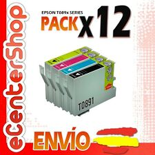 12 Cartuchos T0891 T0892 T0893 T0894 NON-OEM Epson Stylus SX218