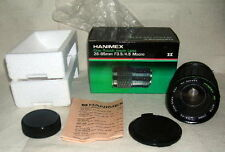 HANIMEX One Touch  28-85mm ZOOM MACRO LENS for Olympus, New Old Stock #purple
