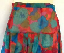 Ladies Gathered Skirt, Size 14, Georgette, Tailor Made by Mabel, New, Floral