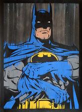 """Batman hand painted stencil painting 22x30"""" Dark Knight, comics, art, gotham"""