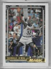 1992-93  TOPPS GOLD  ROOKIE  # 362   VERY NICE  SHAQUILLE O'NEAL
