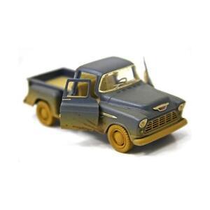"New 5"" Kinsmart 1955 Chevy Stepside Pickup Truck Muddy Diecast Model 1:32 BLUE"