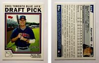 Aaron Hill Signed 2004 Topps #678 Card Toronto Blue Jays Auto Autograph