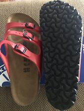 NWT BIRKENSTOCK sz 40 Cherry RED Florida Style FREE SHIPPING