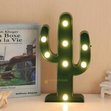 3D LED Night Light Cactus Romantic Table Lamp Marble Home Christmas Party Decor