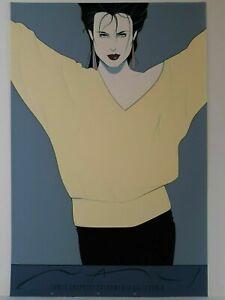 Patrick Nagel: Commemorative #8 Original Serigraph Print-Woman in Yellow Sweater
