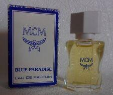 Miniature de parfum  Blue Paradise. MCM   EDP 5 ml + b