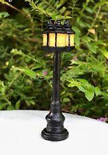 Miniature Dollhouse FAIRY GARDEN ~ Mini Triple Lantern Post Street Lamp Light