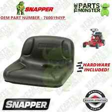 7600194YP --- REAR ENGINE RIDING MOWER SEAT --- OEM SNAPPER SEAT w/ HARDWARE!