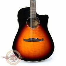 Brand New Fender T-Bucket 300ce Flame Maple Dreadnought in 3 Tone Sunburst