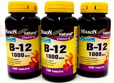 Mason Natural Vitamin B-12 1000 MCG Sublingual Tablets - 100 Ea   Pack 3