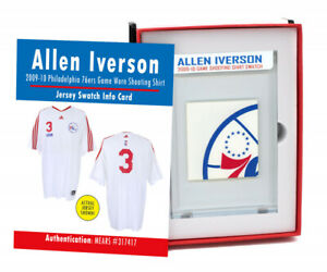 Allen Iverson 2009-10 76ers Game-Worn Shooting Shirt Mystery Swatch Box!