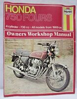 Haynes Owners Workshop Manual Honda 750 Fours 4 Cylinder 736cc All Models 1969