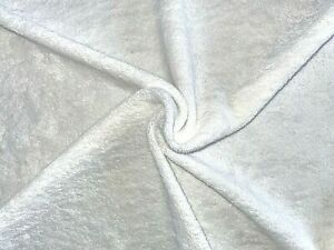 Organic Cotton Terry Towelling Fabric UK Made White