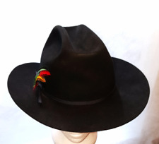Stetson Vintage Hat   4X Beaver Ranch  Cowboy Western Hat  Black NWT Mens 7 1/4