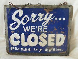Vintage Folk Art Painted Shop Sign 1930s