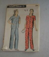 Vintage Women Sewing Pattern Pajamas 40's DuBarry 6084 Unused
