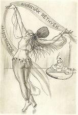 Fritz Kühn Modelleisenbahn Erotisches PF Rethy Erotic Engraving C2 not Exlibris