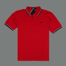 M1200 Size XXL Red Alaskan Men's Tipped Pique Polo Casual Shirt