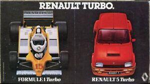 Renault 5 Turbo & F1 Turbo original sticker autocollant adhesivo Aufkleber