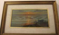 Massimo Orsucci, Olio. Marina al tramonto, Livorno. Molto bello.