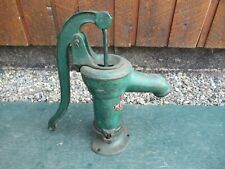 """Vintage Cast Iron Hand McDOUGALL WATER PUMP Measures 16"""" High GREEN Finish"""