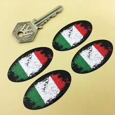 c282b1725db67f ITALY Flag Fade to Black Oval Car Motorcycle Stickers 50mm Set of 4 ITALIAN  Bike