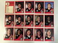 1982 ESSENDON VFL / AFL Scanlens Cards...FULL Team Set w/ UNMARKED CHECK LIST