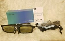 SAINSONIC 3D Active Shutter Glasses for DLP Link Projector rechargeable NEW NIB
