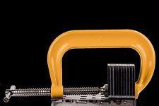 "CertiFlat 0253016 6"" 6900lb Powder Coat Finish Carbon Steel Deep Throat C-Clamp"