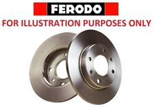 FERODO PAIR FRONT BRAKE DISC FOR FORD COURIER DDF1072C
