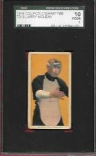 T213-2 COUPON CIGS LARRY MCLEAN NEW YORK 1914 CARD w/ T206 IMAGE GRADED SGC 1 PR