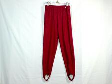NWT Vtg 80s Stirrup Pants Spandex Stretch Berry Magenta Rib Knit Leggings Active